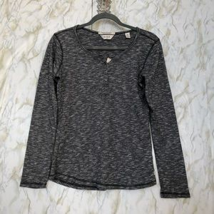 Scotch & Soda 2 gray long sleeve pullover buttons